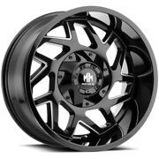 4-mayhem 8106 Hatchet 20x9 8x6.5/8x170 +0mm Black/milled Wheels Rims 20 Inch