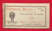 Spectacular Antique 1893 Football Rules Guide Bailey Sporting Goods Philadelphia