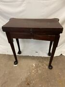 George Iii 18th Century Chippendale Triple Top Game Table