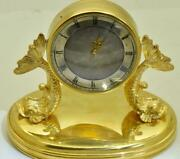 Antique French 19th Century Gold Plated Silver Verge Fusee Desk Clock C1800's