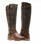 Women's Chocolat Blu Knee High Boots. Suede And Leather. Beautiful Cond 9m