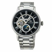 Orient Star Mechanical Moon Phase Rk-am0004b Men's Watch Black Automatic New