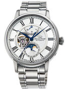 Orient Star Mechanical Moon Phase Rk-am0005s Men's Watch White Automatic New