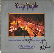 Deep Purple Made In Europe, Vinyl Lp David Coverdale Whitesnake Autograph Signed
