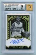2016-17 Panini Grand Reserve One Of A Kind Auto Chis Paul 1/1 Bgs 9 True 1 Of 1