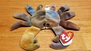Ty Beanie Baby Claude The Crab W/ Tag Errors Plush Toy Rare Pvc New Retired 1996
