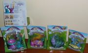 Lot 4 Vintage Toy 90 Magic Trolls Rocking Horse,frog Shower,butterfly,coccinelle