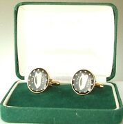 2005 Ireland Cufflinks Made From Irish Coins In Black And Gold
