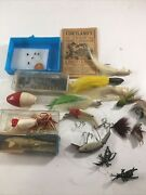 Lot Vtg Fly Rod Fishing Rubber Insect Lure Feather Moth Flies Tiny Flies
