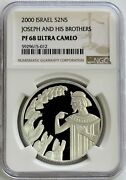 2000 Silver Israel Bibical Proof Joseph And Brothers Proof Coin Ngc Pf 68 Uc