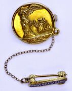 Antique 1919 14k Solid Yellow Gold Nfbpwc Business Women Club Past President Pin