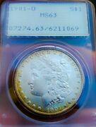 1901 O Ms63 Morgan Silver Dollar Coin Pcgs Old Rattle.