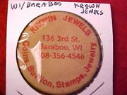 Wooden Nickel, Krown Jewels, 136 3rd St, Baraboo, Wi-coins, Bullion, Stamps, Jew