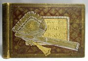 Antique 1885 My Ladyand039s Casket Movable Parts Color Plates Victorian Womanand039s Book