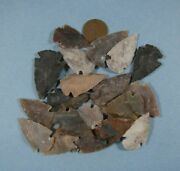 20 - Arrowhead Spearhead Lot Collection And Old Vintage 1897 Indianhead Cent