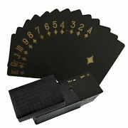 Shinroad Cool Black Playing Poker Cards Professional Card Game 1/2 Deck Pla...