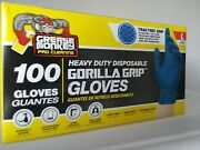 Grease Monkey Heavy Duty Disposable Nitrile Gloves, 100ct, 6mil, Size Large