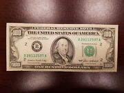 Series 1985 Us One Hundred Dollar Note Bill 100 New York B28112597a