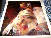 Hua Chen Hand Embellished Giclee Signed Unframed 35 1/2 X 33 1/2 Beautiful