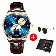 Men Mechanical Moon Phase Wirstwatches Waterproof Luxury Automatic Mens Watches