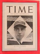 Joe Dimaggio Ny Yankees Feature Time Magazine Oct 7,1948 No Mailing Label 141565