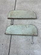 Vintage 1940and039s-1950and039s Metal Fender Skirts- 1 Matched Pair- Year-rat Rod