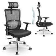Mfavour Ergonomic Office Chair With Elastic Lumbar Support High Back Mesh Off...