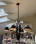 Arte De Mexico Chandelier Wrought Iron And Crystal