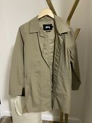 Stussy Lightweight Trenchcoat Khaki Jacket Men's Size Small Urban Outfitters