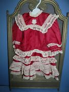 Valentine Silk And Lace Drop Waist Dress 4 Your Treasured French Or German Bebe