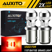 Auxito 1157 Led Red Super Bright Brake Tail Stop Light Parking Bulbs Lamp Eoa