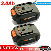 2-pack 20 Volt For Worx Wa3525 20v Max Lithium 3.0ah Battery Power Tools Wa3520