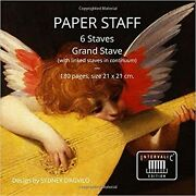 Paper Staff 6 Staves. Grand Stave With Linked Staves In Continuum. 180 Pag...