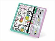 I-total - Funny Set Notebook A5 + Pen/with Elastic Closure Bookmark | Gifts F...