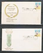 Burma 1966 15p Stamp Peasants Day 2 Diff First Day Covers Used Dated 2/3/66 Ii.