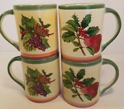 Villeroy And Boch French Noel Coffee Cups Mugs House And Garden Collection Grapes