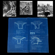Rare Wwi 1917 Plate V A.e.f. Engineer Secret Blueprint Trench Fortifications
