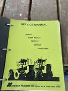 Steiger Tractor Service Manual All Models 1974 Print