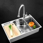 Stainless Steel Kitchen Sinks Brushed Single Bowl Multifunctional Undermount New