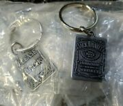 Lot Of 2 - Jack Daniels Whiskey Old No. 7 Pewter Keychain Key Ring Free Shipping