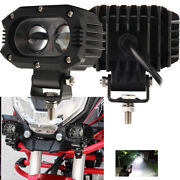 Square 4 Inch Front Bumper Grab Led Work Light Fits For Banshee Headlight Combo
