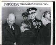 1959 Press Photo Dwight Eisenhower Greeted By King Paul On Arrival In Athens