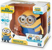 Minions Minion Bob Interacts With Teddy Bear 8 Inches Deluxe Talking Figure New