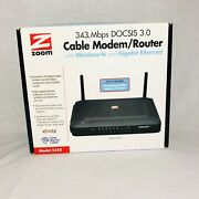 Zoom 343 Mbps Docsis 3.0 Cable Modem Router Wireless-n Xfinity 5352 Open Box