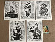 Obey Damaged Show Offset Prints Set By Shepard Fairey Unsigned W Free Showcard
