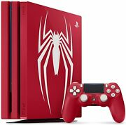 Playstation 4 Pro 1tb Limited Edition Console Marvel's Spider-man Bundle Ps4 New