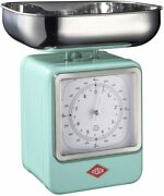 Wesco Wesco Cooking Scale Analog Type Mint 13x15xh27cm Kitchen Scale And Clock
