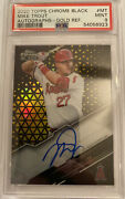 2020 Topps Chrome Black Mike Trout Auto Gold Refractor 10/50 Psa 9 Angels