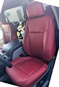 2019-20 Ford F-150 Xlt Stx Supercrew Crew Cab Leather Seat Covers Red Kit
