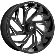 4-fuel D753 Reaction Utv 24x7 4x156 +13mm Black/milled Wheels Rims 24 Inch